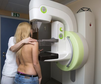 Young woman mammogram  410x341
