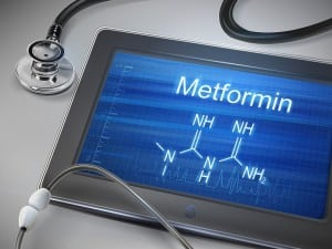 metformin word displayed on tablet
