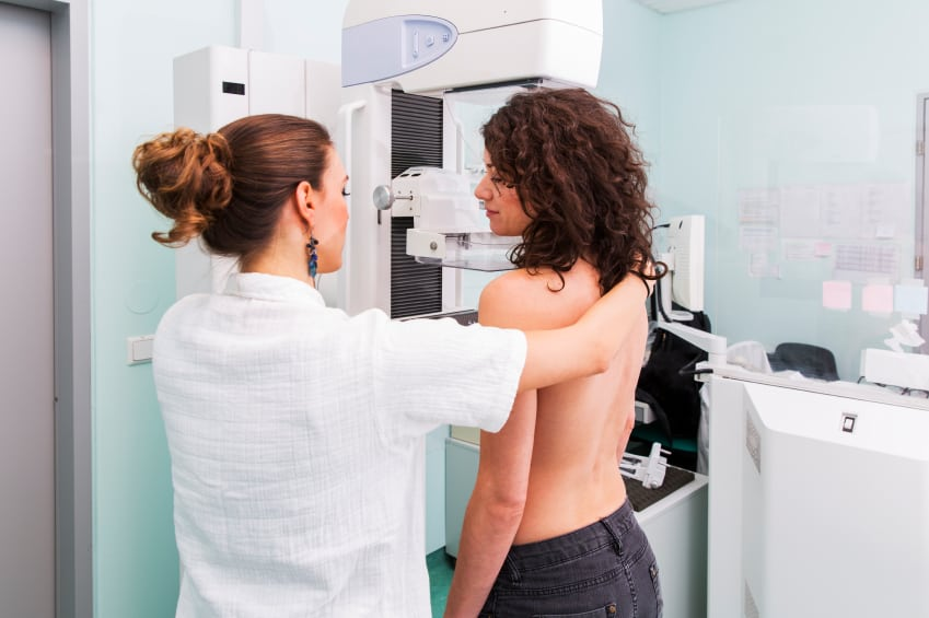 DCIS is usually diagnosed from a screening mammogram.