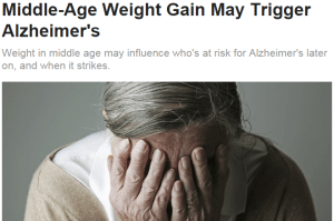 """Talk of weight gain """"triggering"""" Alzheimer's goes beyond what the study can tell us about BMI and Alzheimer's risk."""