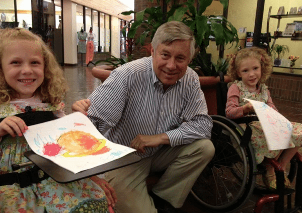 Brooke and Brielle pictured with rep Fred Upton (R-MI).