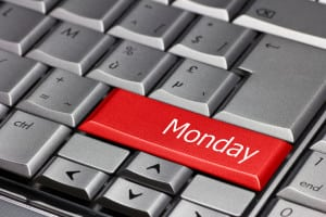 Computer key - days of the week Monday