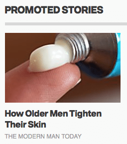"Men's Health ""promoted stories"""