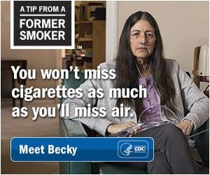 CDC Tips ad campaign featuring advice from former smokers
