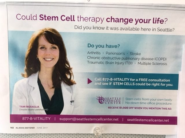 Stem cell ads: Promise much, deliver little