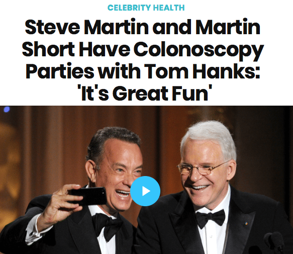 Celebrity Colonoscopy Parties Great Fun Every Other Year
