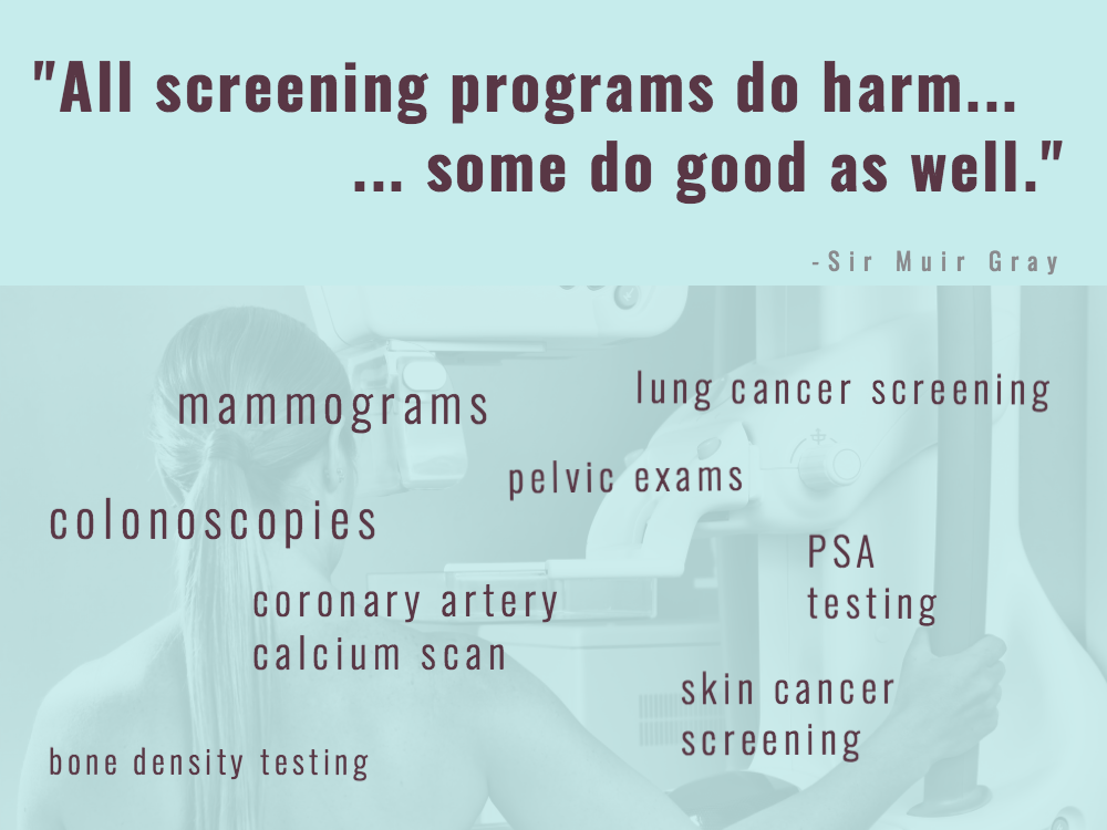 Screening: How overdiagnosis and other harms can undermine